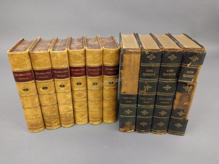 Full Leather Six Volume Set of Books