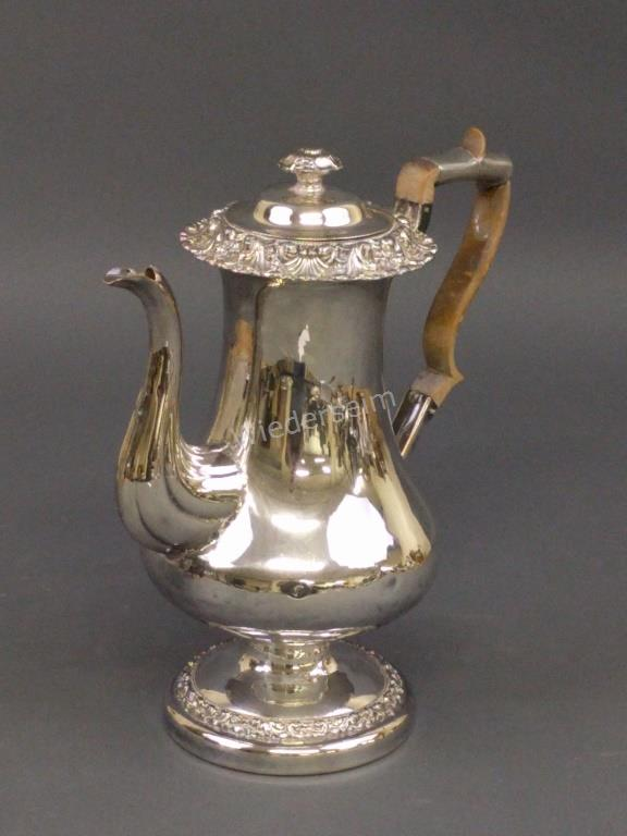George II Sheffield Silver Plate Coffee Pot