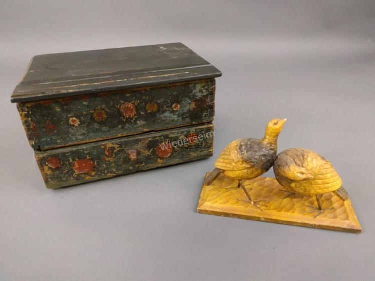 Continental Painted Trinket Box