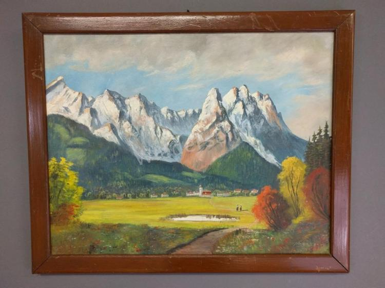 Painting of an Alpine Landscape