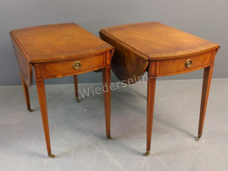 Kittinger Hepplewhite Style Pembroke Tables