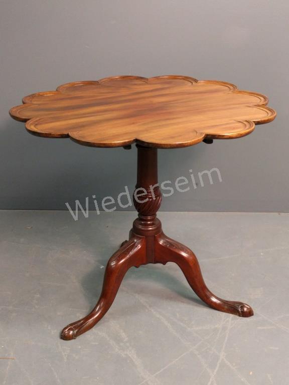 Georgian Mahogany Tea Table