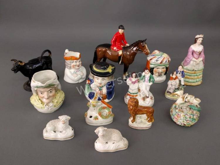 Twelve Staffordshire Figures