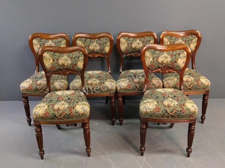 Victorian Walnut Side Chairs
