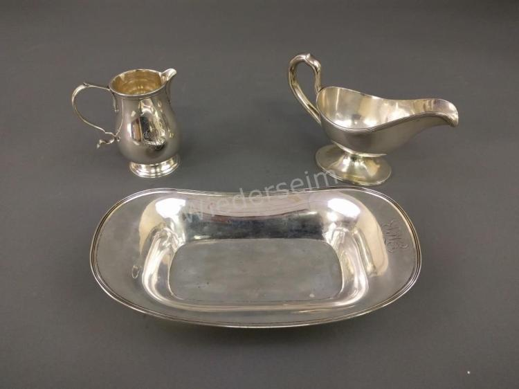 Sterling Silver Bread Tray, etc.