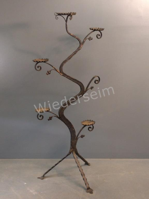 Art Nouveau Wrought Iron Plant Stand