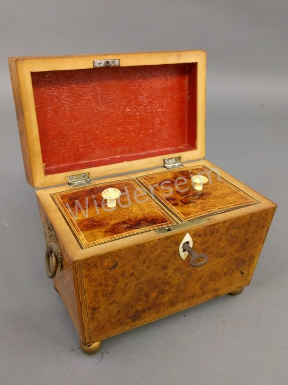 Burl Wood Tea Caddy