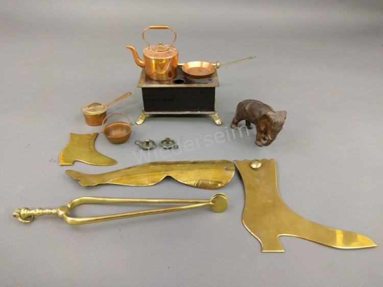 Miscellaneous Grouping of Victorian Brass Items