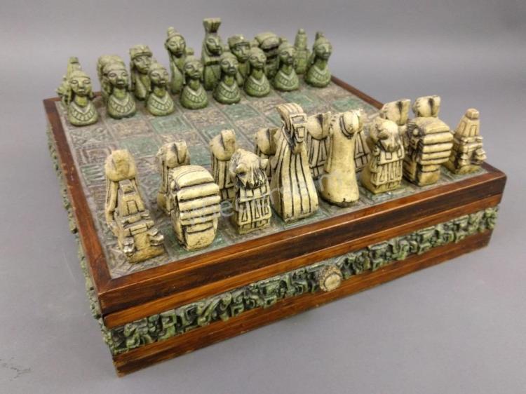 Mayan Style Chess Set