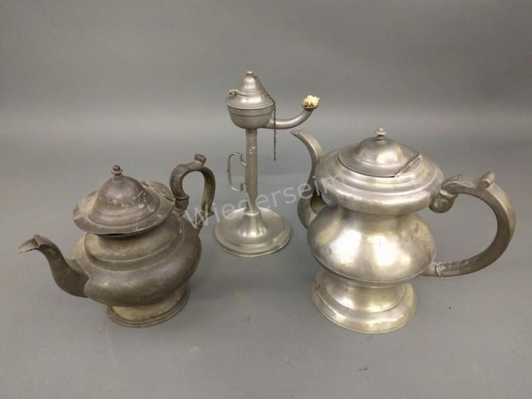 Pewter Coffee Pot, etc.