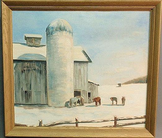 Packer, Richard Gordon [American, 1916-1998] oil