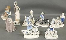 Three Lladro figures, tallest 11