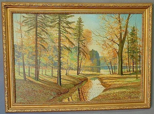Wennemoes, Carl [Danish, 1890-1965] oil on canvas