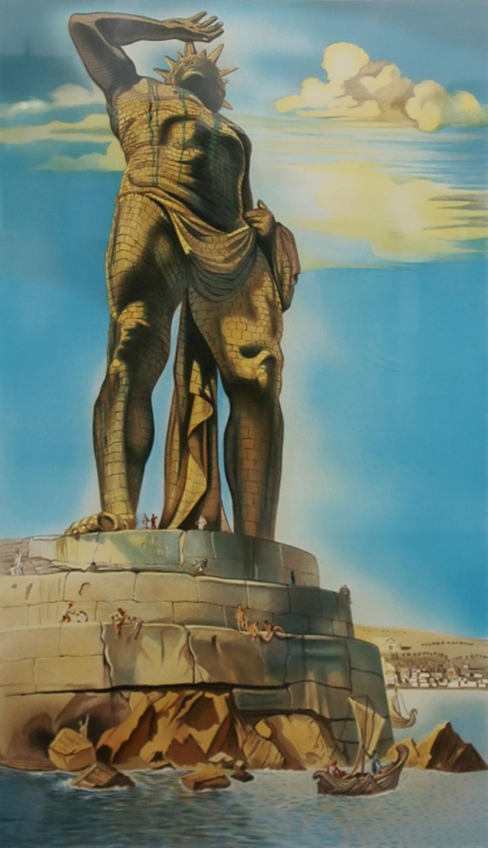 "Lot - Salvador Dali Signed Print ""Colossus of Rhodes"""