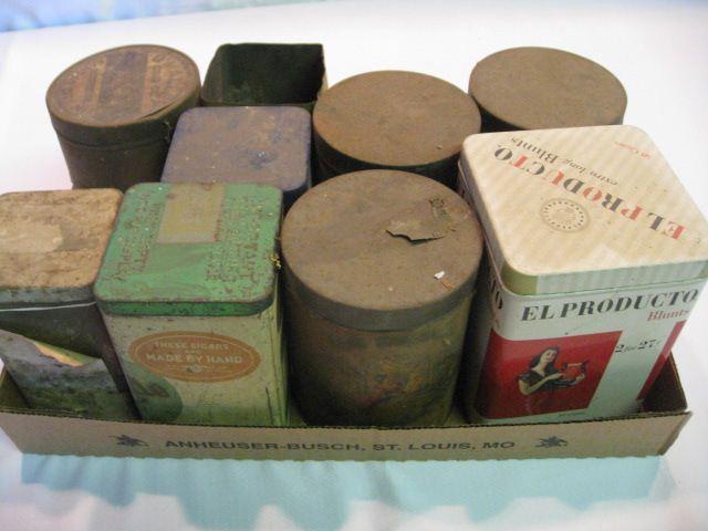 (9) Assorted Cigar Tins