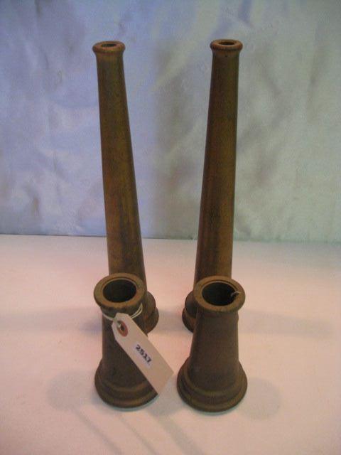(4) Brass Fire Hose Nozzles