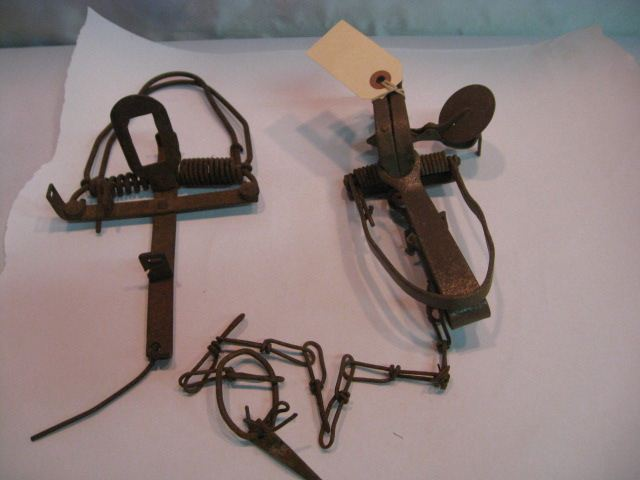 (2) Antique Small Animal Traps