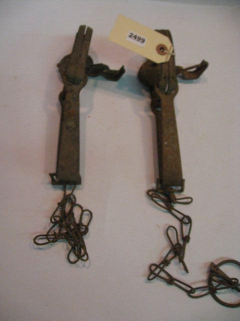 (2) Antique Small Animal Traps