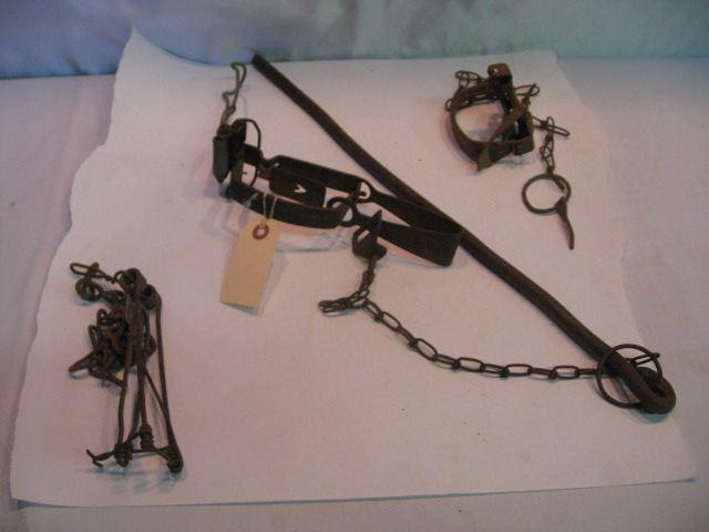 (3) Antique Small Animal Traps