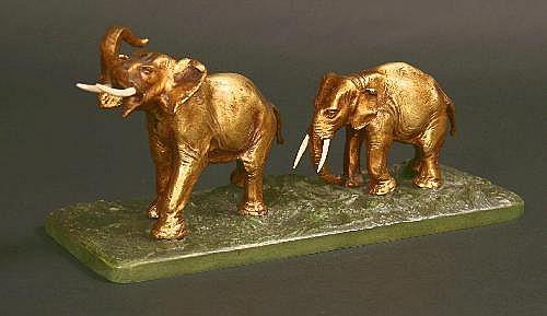 Antonio Amorgasti. A Cast Bronze Animal Study of