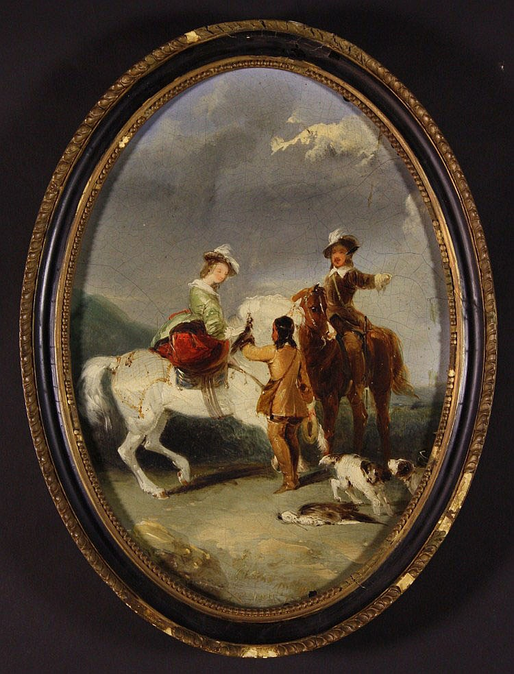 Attributed to Horace Vernet (1789-1863). An Oval
