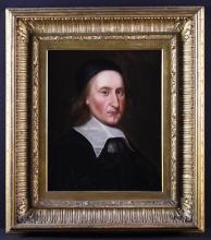 Scottish School. A Mid 17th Century Oil on Canvas: Head & Shoulders Portrait of a Nobleman believed to be Archibald Campbell, 1st Marquess of Argyll, 8th Earl of Argyll, chief of Clan Campbell, (March 1607-27 May 1661) 20½ in x 16¾ in (52 cm x 42.5 cm) in a 19th century moulded gilt frame 31½ in x 28 in (80 cm x 71 cm).