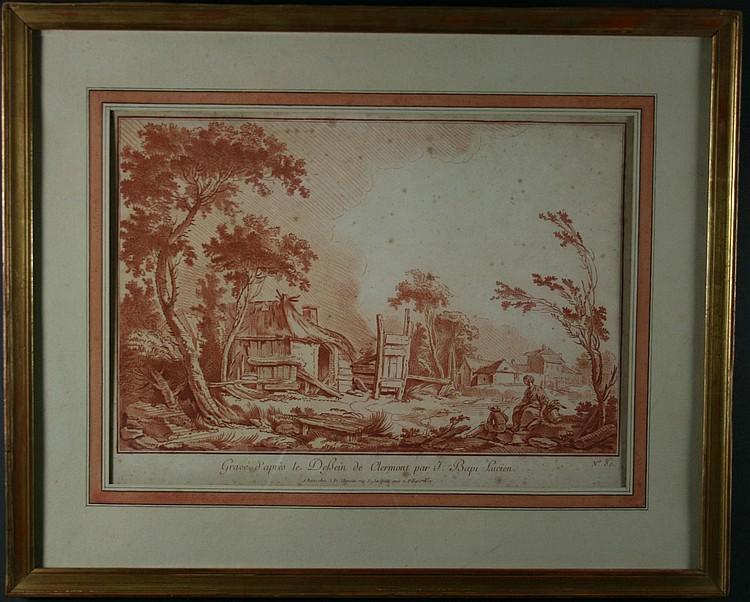 J. Fr Chereau (1688-1776). A Set of Three 18th
