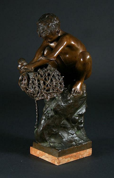 D'Orsi, Achille 1845 - 1929. A Bronze Boy;