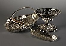 A Fine Oval Silver-plated Bread Basket composed of