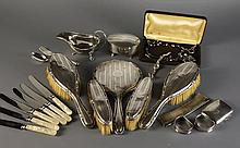 A Silver Backed Brush Set by James Deakin & Sons