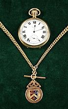 An American Gold Plated Pocket Watch on a 9 Carat