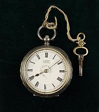 A Lady's Silver Pocket Watch in an engraved case;