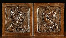 A Pair of 16th Century Carved Walnut Panels