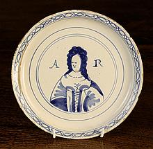 An Early 18th Century Queen Anne Blue & White
