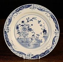 A Fine 18th Century English Blue & White Delft
