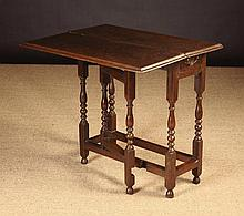 A Small William & Mary Oak Gateleg Side Table,