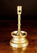 A Rare Flemish Brass Candlestick, Circa 1500-1525.