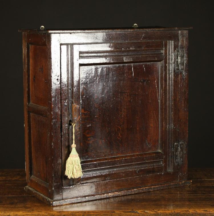 An early 18th century oak wall cupboard of rich colour and p for 18th key of the door