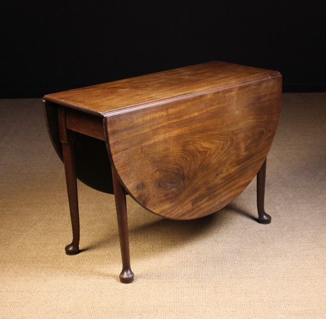 a george iii mahogany drop leaf table the oval top standing. Black Bedroom Furniture Sets. Home Design Ideas