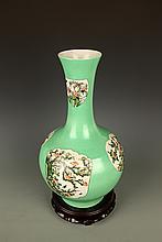 A LIGHT GREEN COLOR GLAZED PORCELAIN JAR