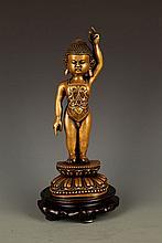 A FINE SAKYAMUNI BUDDHA FIGURE