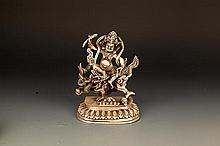 A FINELY CARVED GOD OF WEALTH FIGURE