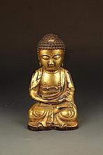 A FINELY CARVED AMITABHA TATHAGATA BUDDHA FIGURE