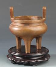 DOUBLE EAR THREE FOOT BRONZE CENSER