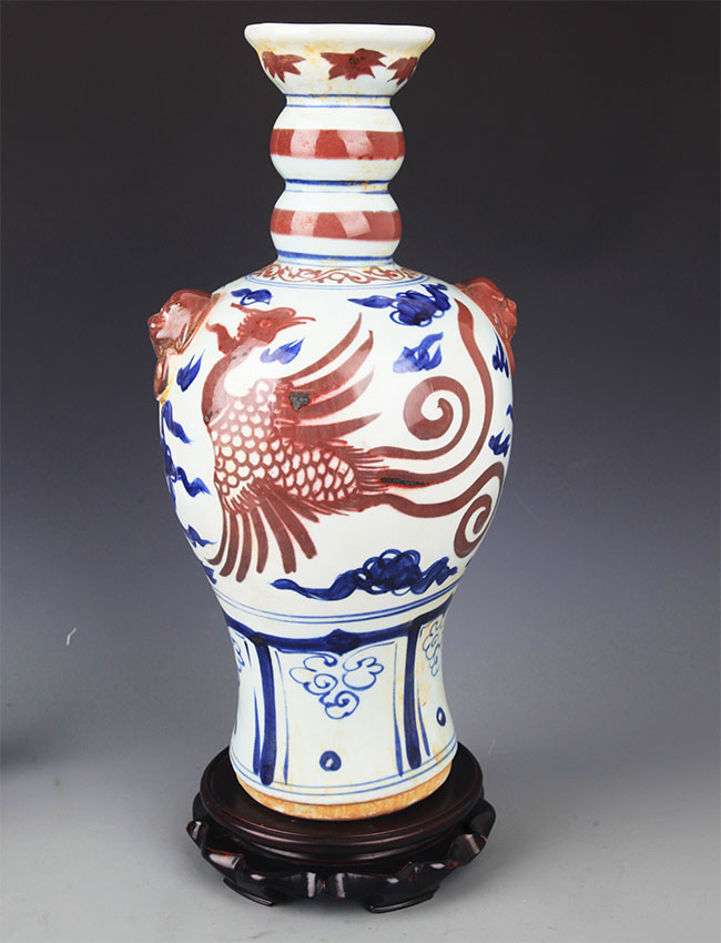 A BLUE AND WHITE, YOU LI HONG PORCELAIN BOTTLE