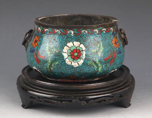 A FINE AND COLORFUL BRONZE CENSER