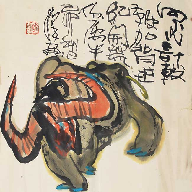 A LIU HAN CHINESE PAINTING, ATTRIBUTED TO