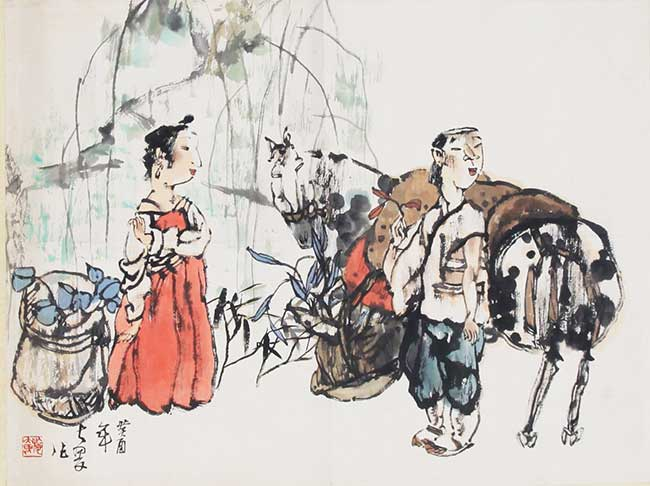 A SHI DA WEI CHINESE PAINTING, ATTRIBUTED TO