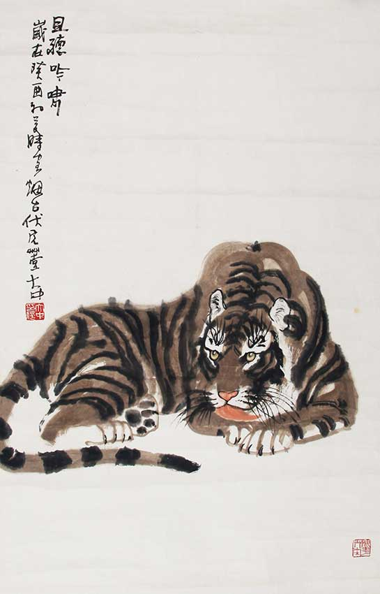 A FENG DA ZHONG CHINESE PAINTING, ATTRIBUTED TO