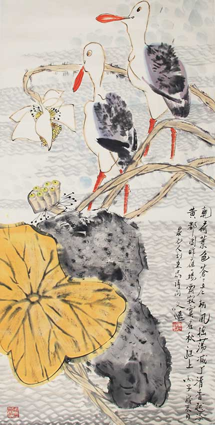 A JIANG WEN ZHAN CHINESE PAINTING, ATTRIBUTED TO